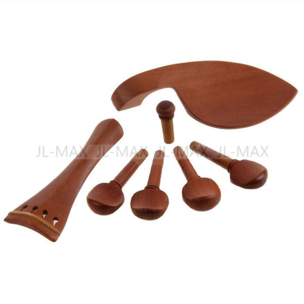 Set Jujube Wood Material 4 4 Violin Parts Pegs Tailpiece Chinrest Endpin $8.49