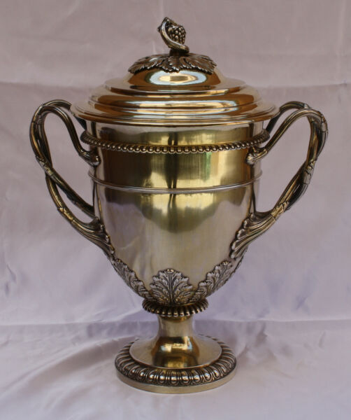 Magnificent 1814 English Sterling Silver Covered Cup Trophy By William Burwash