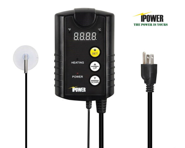 iPower Digital Heat Mat Thermostat Controller Seed Germination Reptiles