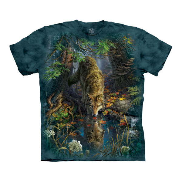 The Mountain Enchanted Wolf Pool Adult Unisex T Shirt $19.50