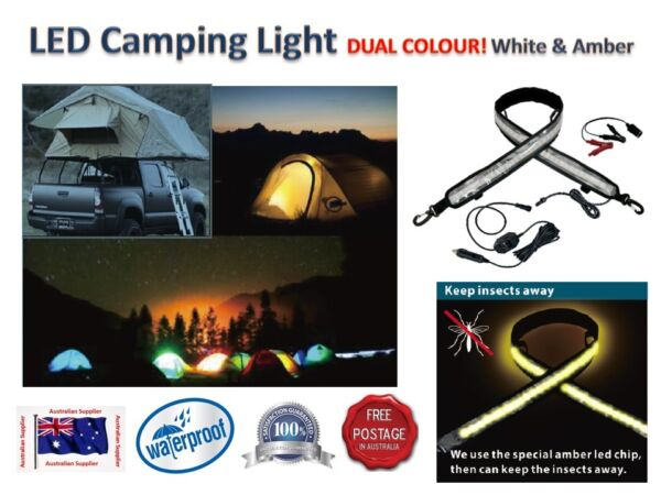 AWNING 4x4 FLEXIBLE CAMPING LIGHT DUAL COLOUR keeps mozzies away!!!!!!