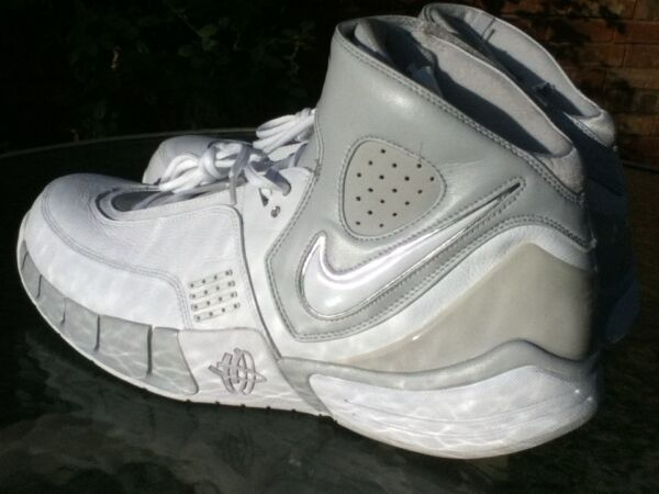 Mens ~NOS~ 16.5 2006 NIKE ELITE White Leather Basketball High Tops. Rim Rockers