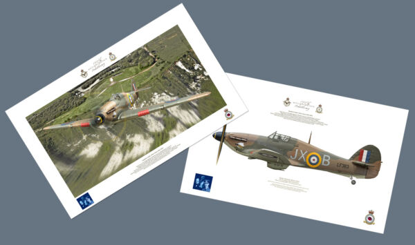 This is a pair of 75th Anniversary prints produced for the BBMF 75th