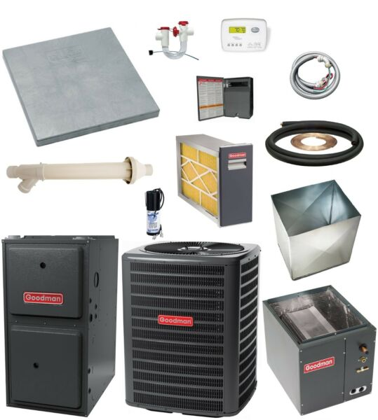 MOST COMPLETE SYSTEM 96% 120k btu Gas Furnace and 5 Ton 13 SEER AC