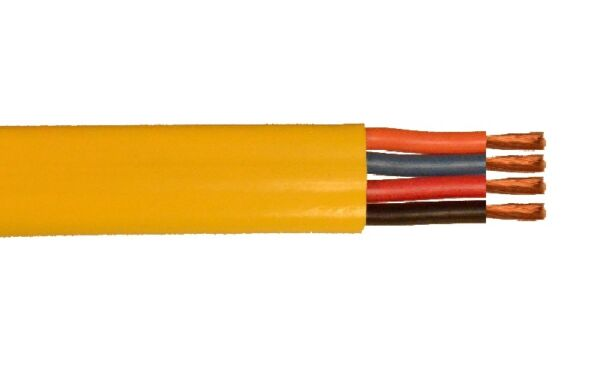 750' 14 AWG 12 conductors 1412 Festoon 600V PVC Jacket Flat Yellow Cable Wire