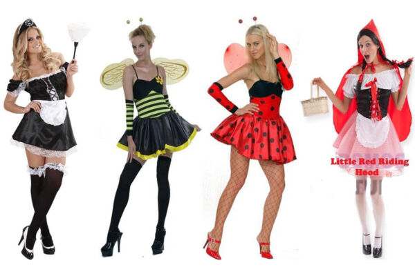 SEXY BUMBLE BEE FRENCH MAID LITTLE RED RIDING HOOD CHILDREN FANCY DRESS COSTUMES GBP 7.90