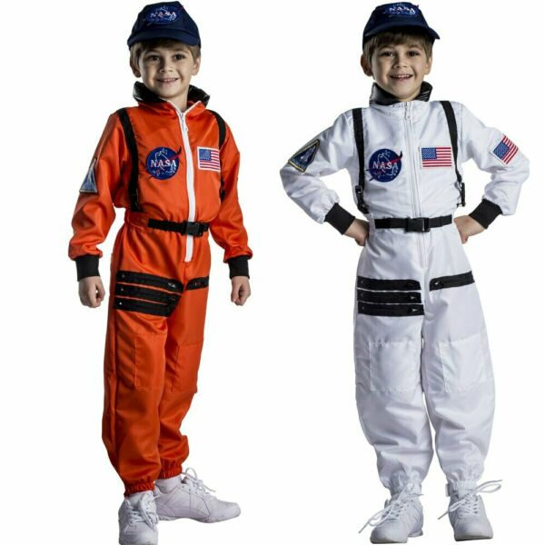 Astronaut Costume for Kids – NASA Orange White Space Suit By Dress Up America $29.95