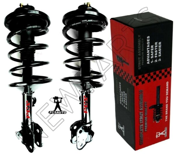For Honda Odyssey Pair of Front Strut Assies w Coil Springs FCS Auto Set