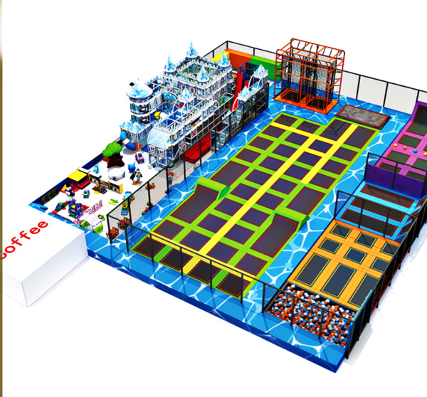 12500 sqft Commercial Turnkey Trampoline Park Rock Wall Inflatable We Finance