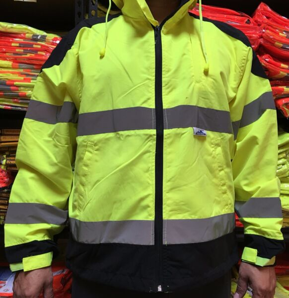 CLASS 3 High Visibility Safety Windbreaker  ANSI ISEA 107-2015