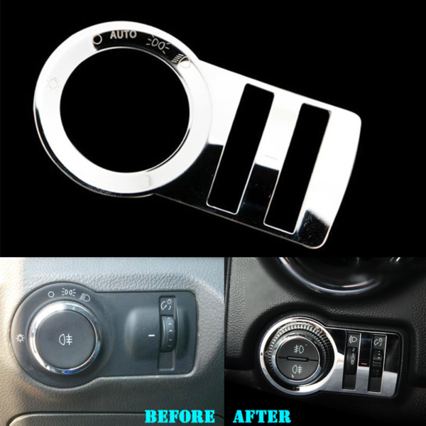 Car Interior Head Light Switch Button Cover Trim For Chevrolet TRAX 2014 - 2016