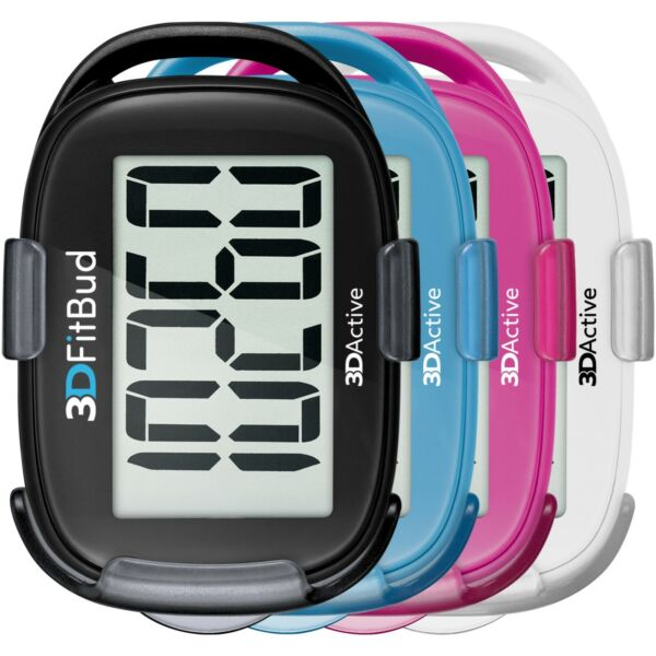 3DFitBud Simple Step Counter Walking 3D Pedometer with Lanyard A420S