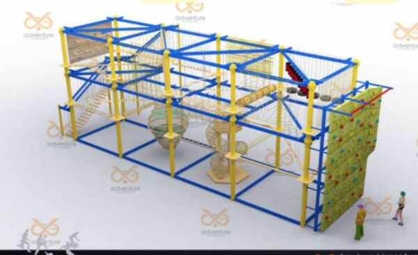 72'x23'x19' Commercial Rock Climbing Wall Obstacle Course Structure We Finance