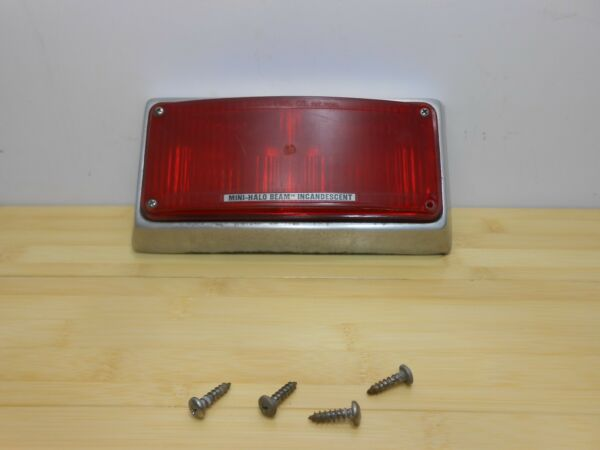 Vintage WHELEN Mini Halobeam 8 x 4quot; Red Light with Mount Ambulance Emergency..