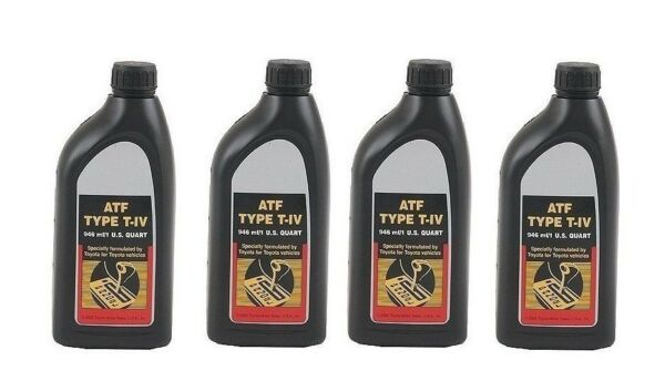 4 Quart ATF T-IV Automatic Transmission Fluid Oil Genuine for Toyota Lexus