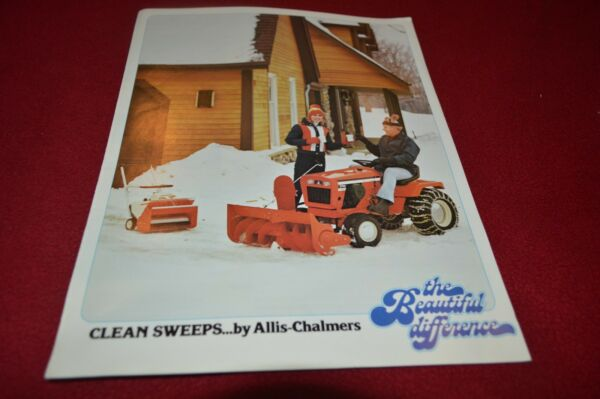 Allis Chalmers Lawn amp; Garden Snow Remova Guide For 1979 Dealers Brochure YABE11