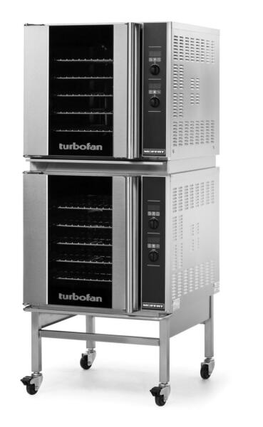 Moffat E32D5 2C Electric Double Convection Oven 5 Full Size Pan Mobile Stand