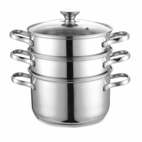 Steamer 4 qt Double Boiler Set Stainless Steel Cook Home Kitchen Pot Cooker