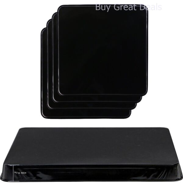 New Gas Burner Covers Square Kitchen Home Stove Top Set of 4 Black Reston Lloyd