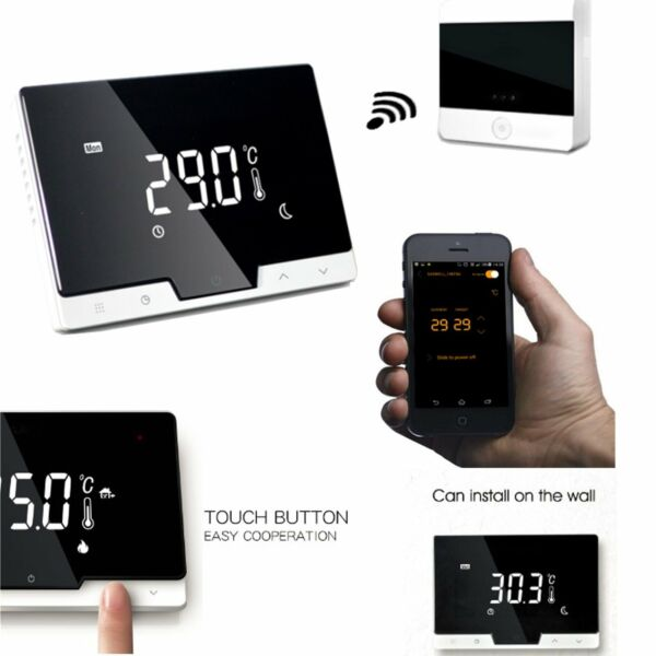 WIFI 2in1 Wireless Thermostat For ElectricGas Boiler Heating system W Receiver
