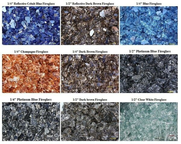 BLOWOUT SALE FIREGLASS 9 COLORS TO CHOOSE 10 LBS Glass for Fireplace Fire Pit