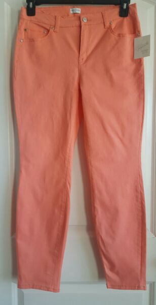 Pants Jeans Women's Coral Skinny Soft Cotton Comfort Jaclyn Smith 8 14 NWT New