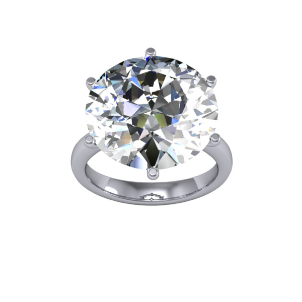 10ct Stunning Natural Round Solitaire Huge Diamond Engagement Ring SI1-I GIA