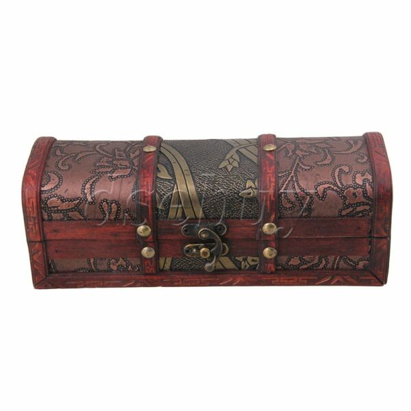 BQLZR Retro Old Stye Wooden Jewelry Box Case Storage Crate Box for Women