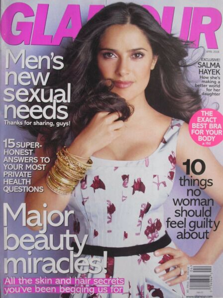 SALMA HAYEK April 2008 GLAMOUR Magazine