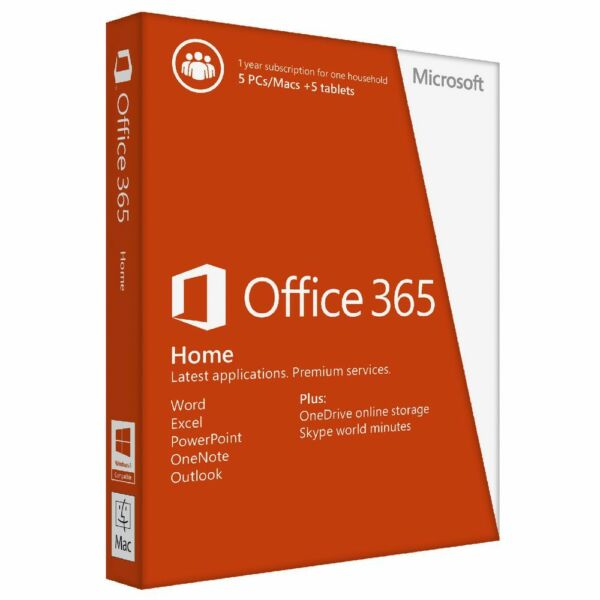 Office 365 Home - 5 PC + 1TB One Drive