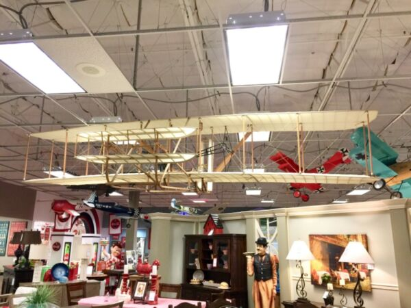 GIANT SCALE AIRPLANE 1903 WRIGHT FLYER 16' WINGSPAN BEAUTIFUL AVIATION