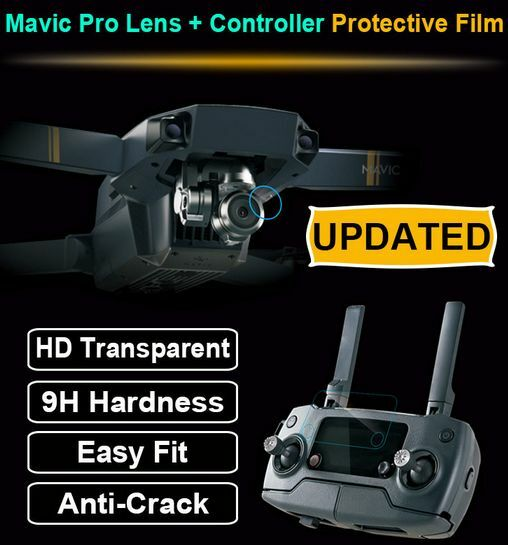 DJI Mavic Pro Drone Camera Remote Control Glass Protective Film Screen Protector