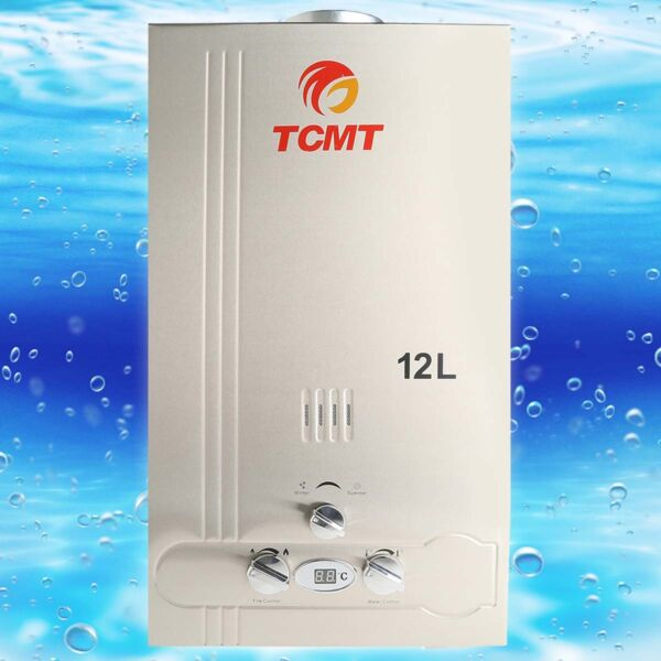 12L Natural Gas Instant Hot Water Heater 3.2GPM Home Bathroom Tankless Boiler