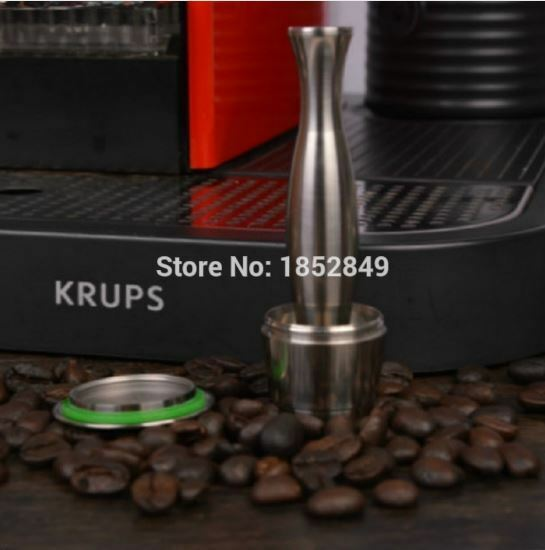 Stainless Steel Compatible Capsule Refillable Reusable DIY Nespresso Machine