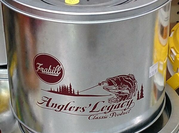 frabill anglers' legacy 2 piece galvanized minnow  bucket 8 quart model 1266