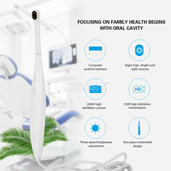1X Electric Toothbrush Automatic 360° Rotating Rechargeable Sonic U Teeth Brush