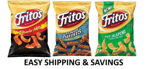 Fritos Corn Chips Multiple Variety 9.25 Oz Spicy Honey PACK OF 2 BAGS PER ORDER