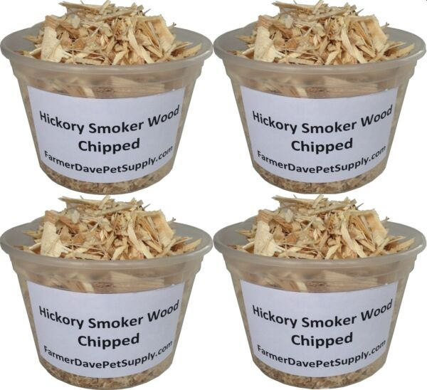 Hickory Chips Smoker Wood - 4 Pint Pack