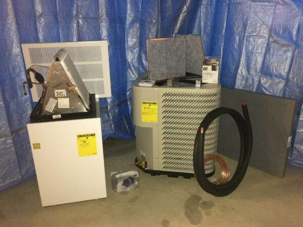2 Ton Mobile Home Split Heat Pump System Complete with 12kw Electric Furnace