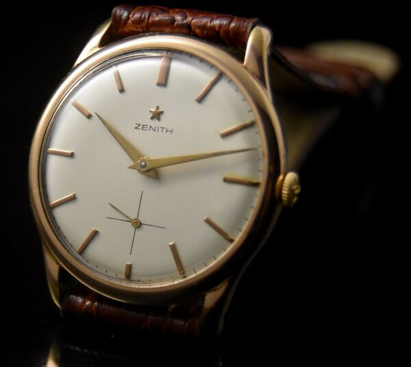 rare VINTAGE ZENITH STELLINA HAND WINDING MEN'S GOLD FILLED CLASSIC WATCH MONTRE