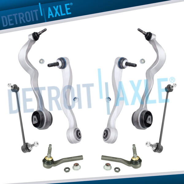 BMW 8pc Front Lower Rearward & Forward Control Arms Tie Rods Sway Bar Links Kit