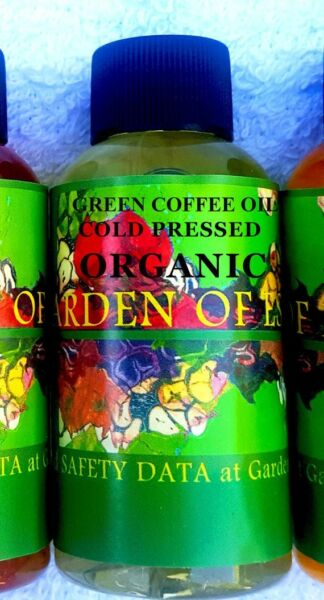 ORGANIC Green Coffee Oil 2oz Cold Pressed Carrier Oil for Weight Loss