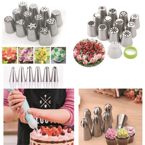 7/12/24pcs Russian Flower Cake Icing Piping Nozzles Decorating Tips Baking Tool