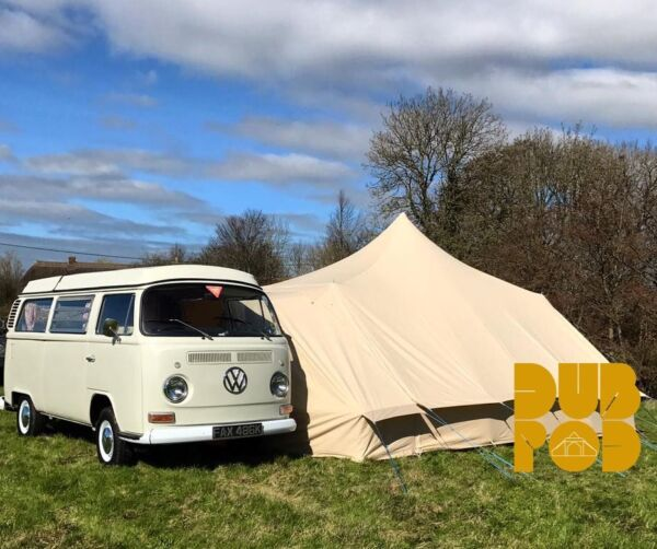 VW T1 Campervan - DubPod Drive Away Canvas Awning by Bell Tent Boutique