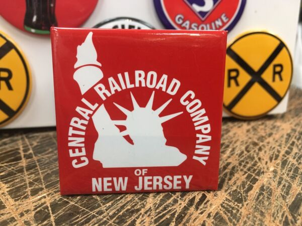 classic CENTRAL RAILROAD COMPANY OF NEW JERSEY full backed refrigerator MAGNET $7.99