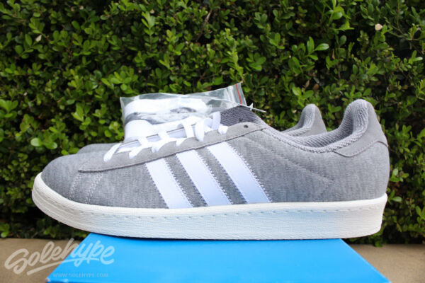 ADIDAS CAMPUS 80'S BW SZ 6.5 BEDWIN AND THE HEART BREAKERS GREY WHITE S75675