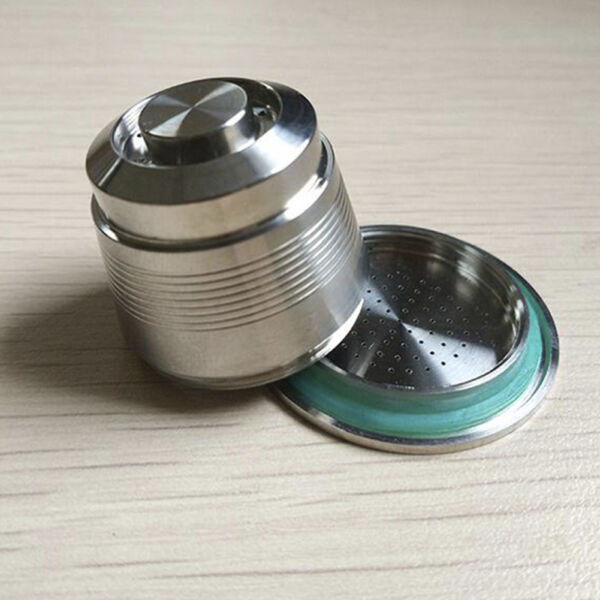 For Nespresso Machine Stainless Steel Fliter Hot Refillable Coffee Capsule Pod