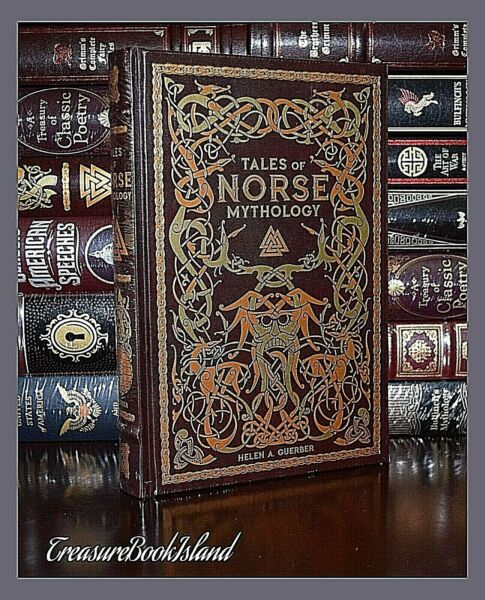 Tales of Norse Mythology Viking Tales Illustrated New Sealed Leather Bound Gift