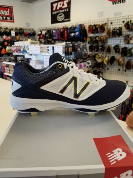 2017 New Balance Metal Baseball Cleat Navy/White L4040NB3