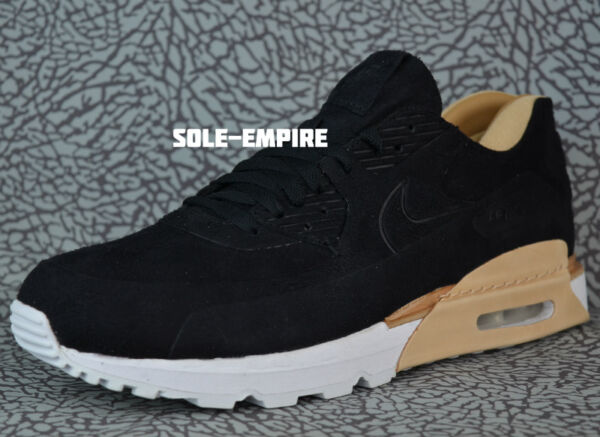 Nike Air Max 90 Royal 885891-001 Black Vachetta Tan White Mens DS NEW $260 MSRP
